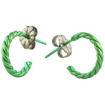 Ti2 Titanium kleine verdreht Creolen - frisches Grün