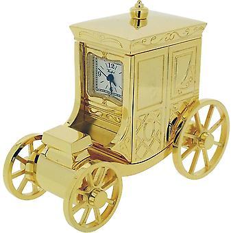 מוצרי זמן מתנה כרכרה האקני שעון מיניאטורי-זהב