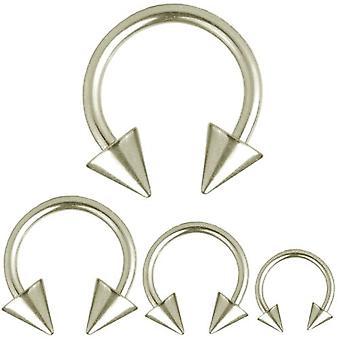 Pyöreä Barbell hevosenkenkä lävistyksiä piikkarit, Body korut, paksuus 1,6 mm | Halkaisija 8-14 mm