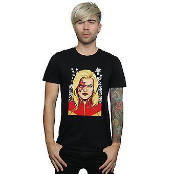 Męski kapitan Marvel Glam T-Shirt Marvel