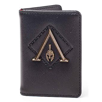 Assassins Creed Odyssey Wallet Premium Metal Odyssey Badge Card Official Black