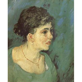 Porträt einer Frau in Blau, Vincent Van Gogh, 46x38cm
