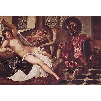 Vulcano sorprende a Venus y Marte,Tintoretto,60x40cm