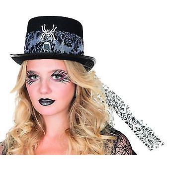 Cylindra przędzenia wzór kapelusz Halloween akcesorium