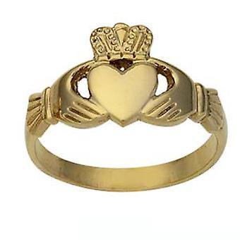 9ct arany 12mm uraim Claddagh Ring méret Z