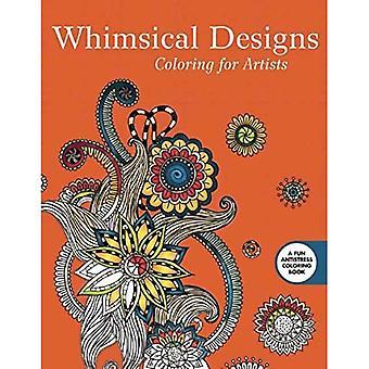 Dessins fantaisistes: Coloriages pour les artistes (Stress créatif soulager livre de coloriage adulte)