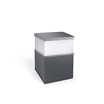 Cubik LED Urban grå utomhus piedestal Light - lysdioder-C4 10-9938-Z5-CL