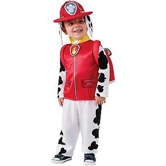 Klassische Pfote Patrol Marschall Kostüm für Kinder