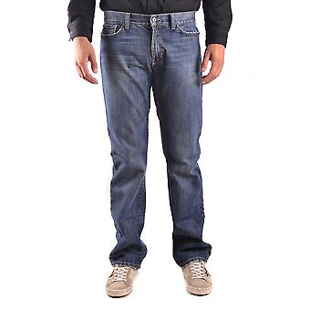 John Richmond Ezbc082060 Men's Blue Cotton Jeans