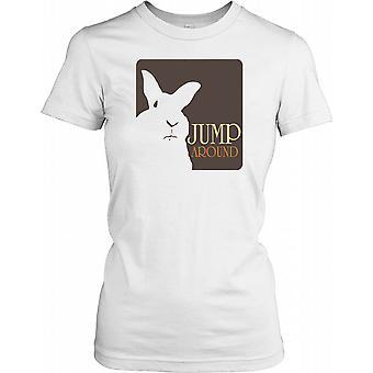 Hoppe rundt - hvid kanin damer T Shirt
