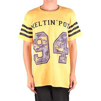 Meltin-apos;pot Ezbc262044 Men-apos;s Yellow Cotton T-shirt