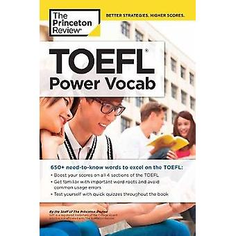 TOEFL Power Vocab by Princeton Review - 9781524710705 Book