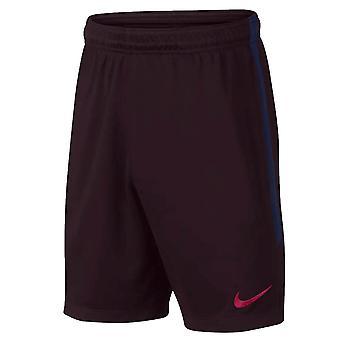 2019-2020 Barcelona trenýrky Nike v Barceloně (Burgundsko)-děti
