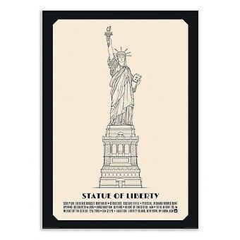 Art-Poster - Statue of liberty - Lionel Darian 50 x 70 cm