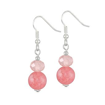 Éternelle Collection Captivation rose corail fermoir Drop boucles d'oreilles