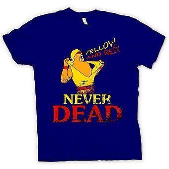 Womens T-shirt - Hulk Hogan - Yellow And Red Never Dead