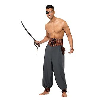 Pirate Blouson bukser, Pirate fancy kjole, XL