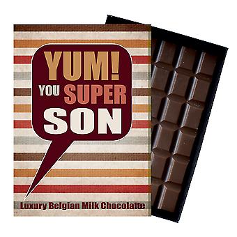 Gift for Son for Birthday Thank You Congratulations Chocolate Greetings Card Present for your Boy YUM104