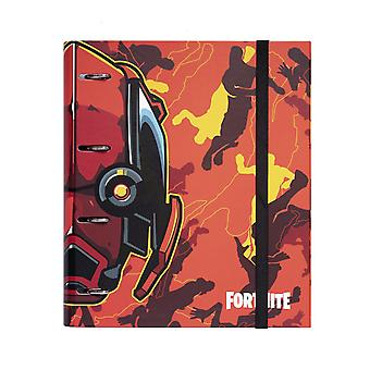 Fortnite Premium Ringbuch DIN A4 mit 4 Ringen orange Hardcover, mit Gummiband