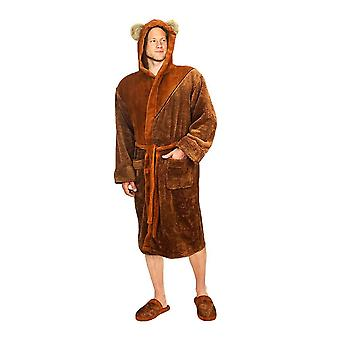 Star Wars Ewok Character Fleece Hooded Dressing Gown
