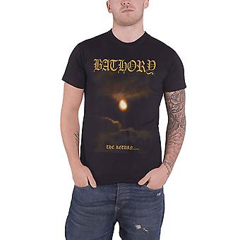 Bathory T Shirt The Return 2017 tracklist band logo new Official Mens Black