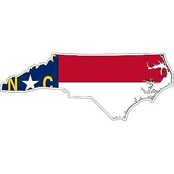 Aufkleber Aufkleber Adhesif Vinyl Auto Flagge Karte North Carolina USA