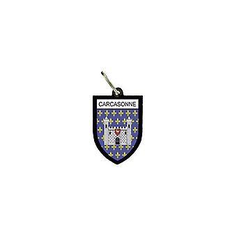 Porte Cles Clefs Cle Drapeau Collection Ville Blason France Carcassonne