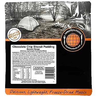 Expedition Foods Black Chocolate Chip Biscuit Pudding