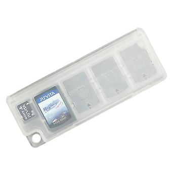 10 in 1 game card holder protective case storage box for sony ps vita - white