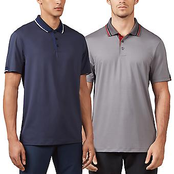 Wolsey Mens Sleeve Stripe Quick Dry Raglan Golf Polo Shirt