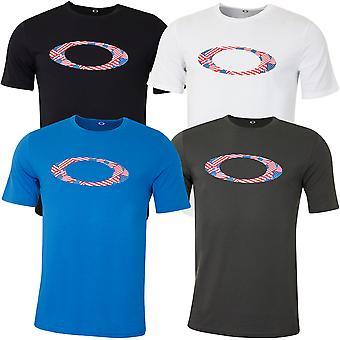 Oakley Herren Ellipse Usa Muster T-Shirt leicht T-Shirt
