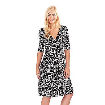 Pistachio Women's Giraffe Print Half Sleeved Dress