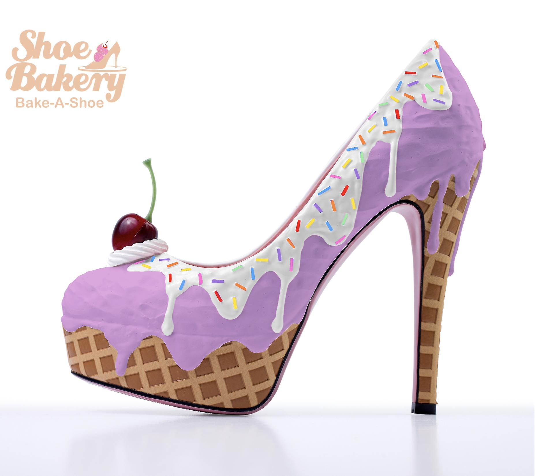 Baked and Ready Lavender Ice Cream Heels  sz 5.5