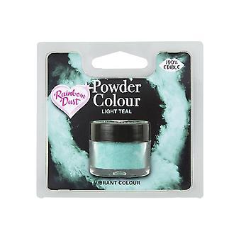 Rainbow Dust Edible Matt Powder Dust Colour 4g Light Teal