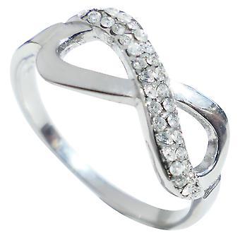 Ah! Jewellery Highly Polished AAA Grade CZ Steel 8.6mm Infinity Ring