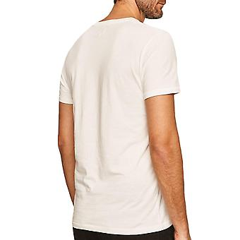 Wrangler Mens SS Athletic Cotton Short Sleeve Crew Neck T-Shirt Tee Top - White