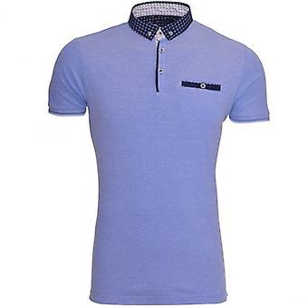 Brave ziel Mens Designer Polo T Shirt kraag Smart Casual korte mouwen Top borstzak