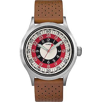 Timex Todd Snyder Mod Tan Lederen Unisex Horloge TW2T57700JR