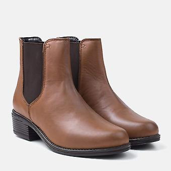 Rosary tan leather chelsea boot