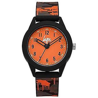 Hype | Grey/Orange Camo Silicone Strap | Orange Dial | HYK009NO Watch