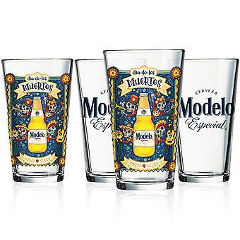 Modelo Especial Día de Muertos 4-Pack Pint Glass Set
