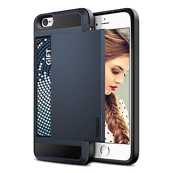 VOFOLEN iPhone 6 - Wallet Card Slot Cover Case Business Case Blue