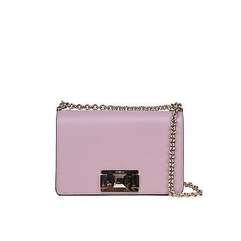 Furla 1045356 Women's Pink Leather Shoulder Bag
