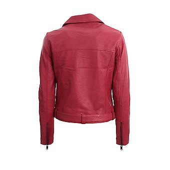 Oneteaspoon 23071red Women's Red Leather Outerwear Jacket