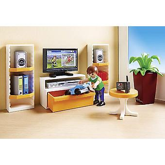 Playmobil 9267 City Life vardagsrum med arbetsbelysning