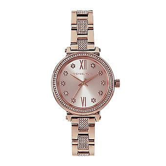 Michael Kors Watches Mk3882 Sofie Mini Rose Gold Stainless Steel Ladies Watch