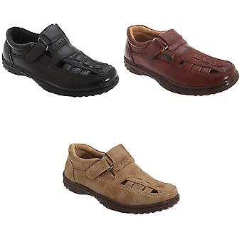 Scimitar Mens Touch Fastening Toe Sandal Shoes
