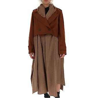 Chloé Chc19wma0406726i Women's Brown Leather Coat