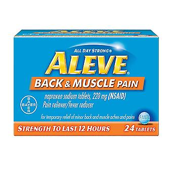 Aleve back & muscle pain, pain reliever/fever reducer, tablets, 24 ea
