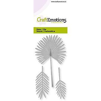 CraftEmotions يموت - مروحة بطاقة النخيل 5x10cm